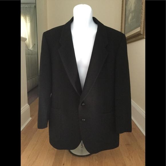 ed383f6c42c27 Yves Saint Laurent Suits & Blazers | Ysl Vintage Black Mens Wool ...